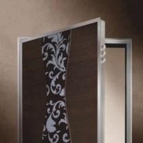 Steel security door frame in chrome