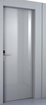 PT Hotel Shiny Grey door no frame πόρτα ξενοδοχείου γυαλιστερή λάκα χωρίς κάσα Loft mylofteu