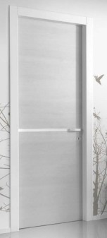 PT white laquer grey leaf door with line in middle πόρτα κάσα λάκα λευκή φύλλο γκρι Loft mylofteu