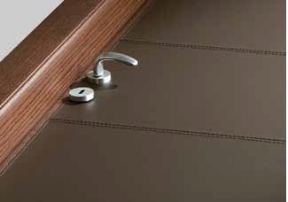 mood leather door detail δερμάτινη πόρτα Loft mylofteu
