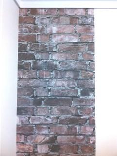 Aggelos brick wallpaper first sheet 2 ταπετσαρία τούβλου LOFT mylofteu
