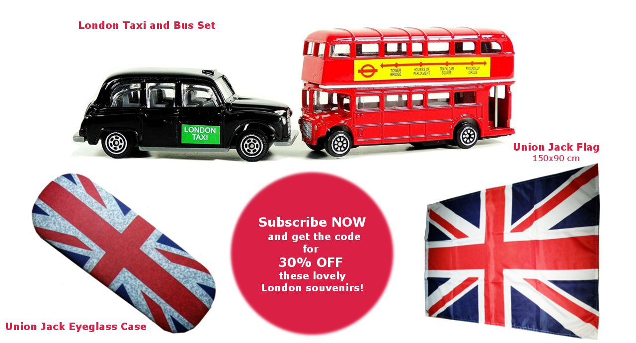 30% OFF on selected London souvenirs