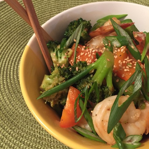 Stir Fried Shrimp Broccoli & Peppers