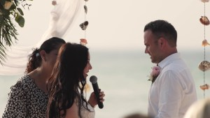 A destination wedding in Isla Mujeres.
