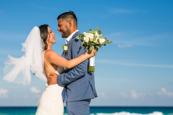 Katherine and Israel Wedding day Iberostar Cancun