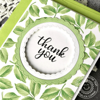 Sunny Studio Stamps Everything's Rosy Thank You Card