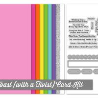 My Favorite Things Let's Toast (With A Twist) Card Kit