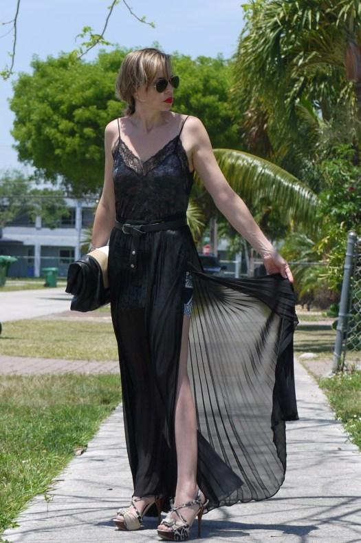Long skirt + velvet camisole by mylovelypeople