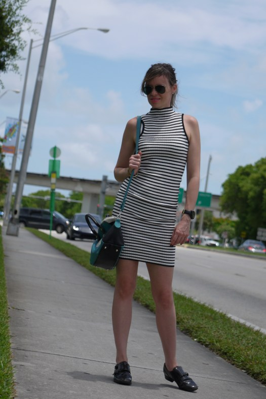 Stripes dress with Oxford shoes by Mylovelypeople