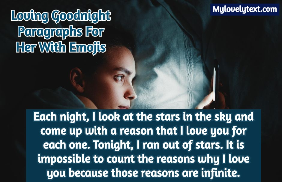 For her text goodnight 98 Romantic