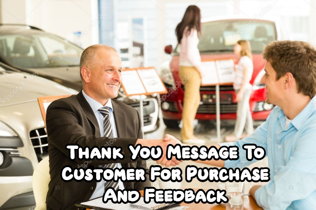 Thank You Message for Customer