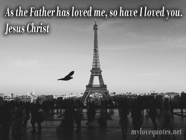 as the father has loved me