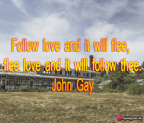 follow love and it will flee