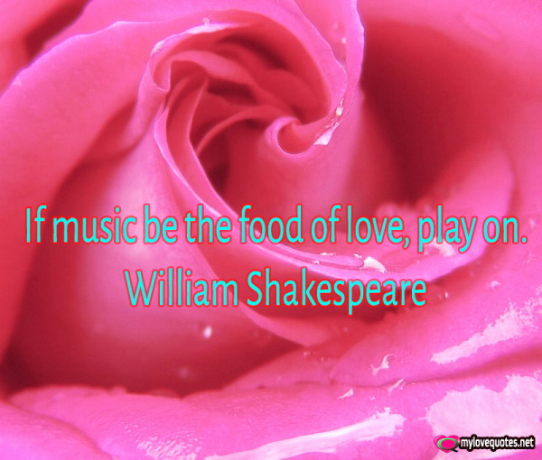 if music be the food of love play on
