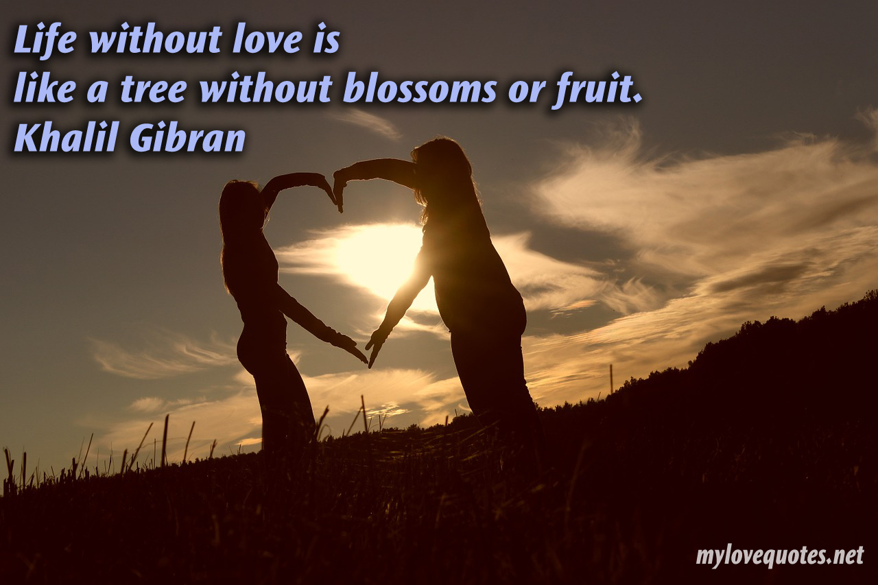 Life Without Love Is Like A Tree Without Fruits