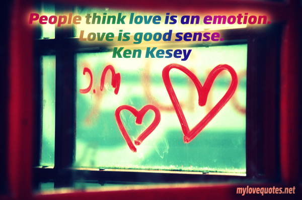 people think love is an emotion