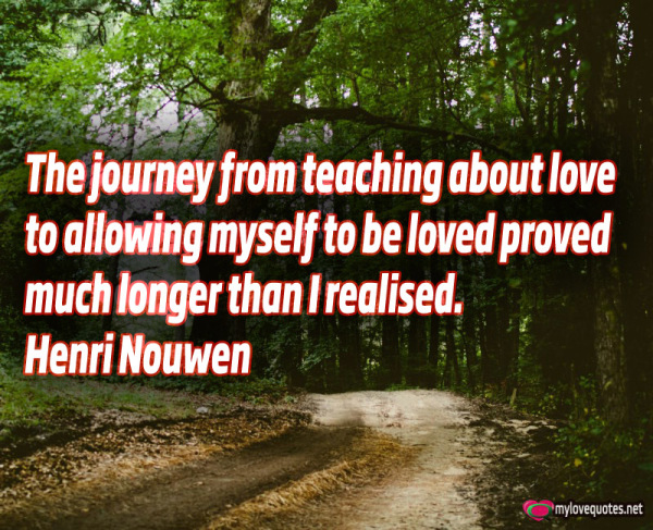 the journey from teaching about love
