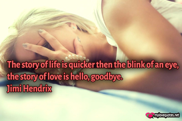 they story of life is quicker then the blink