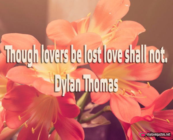 though lovers be lost love