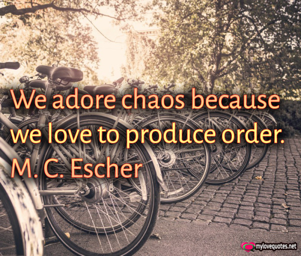 we adore chaos because we love