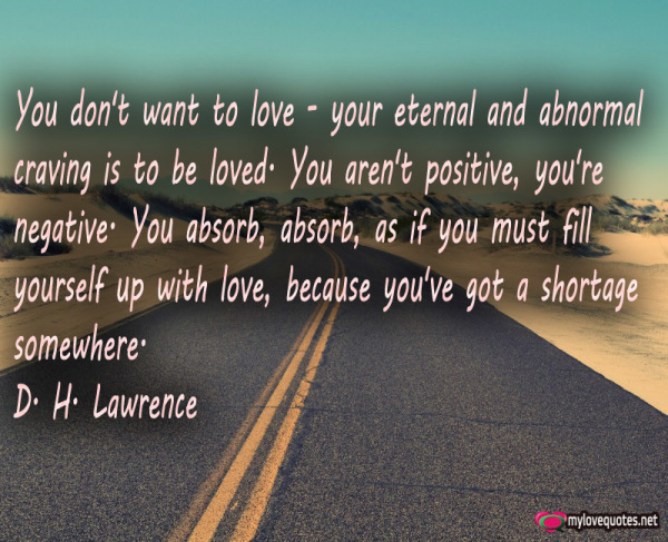you don't want to love your eternal