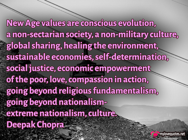 new age values are conscious evolution a non sectarian society