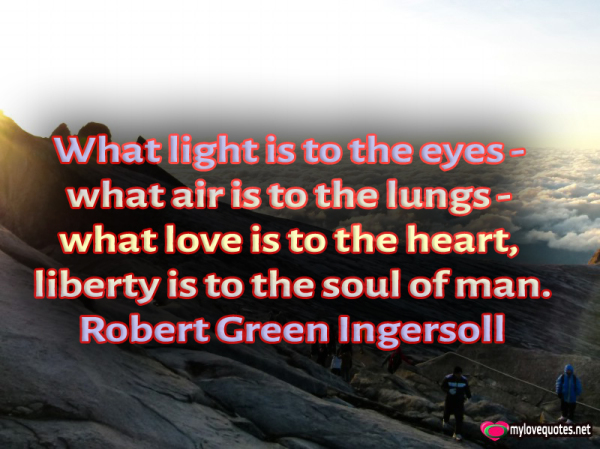 what light is to the eyes what air is to the lungs