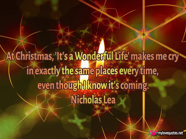 at christmas it's a wonderful life makes me cry in exactly the same places everytime