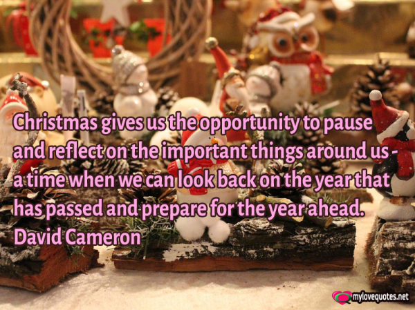 christmas give us the opportunity to pause and reflect on the important things around us