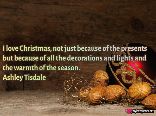 i love christmas not just because of the presents
