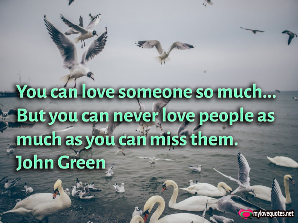 you can love someone so much but you can never love people as