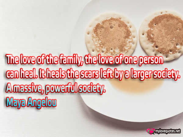the love of the family the love one person can heal