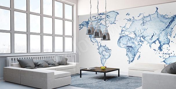 stickers carte du monde mur aux dimensions myloview fr