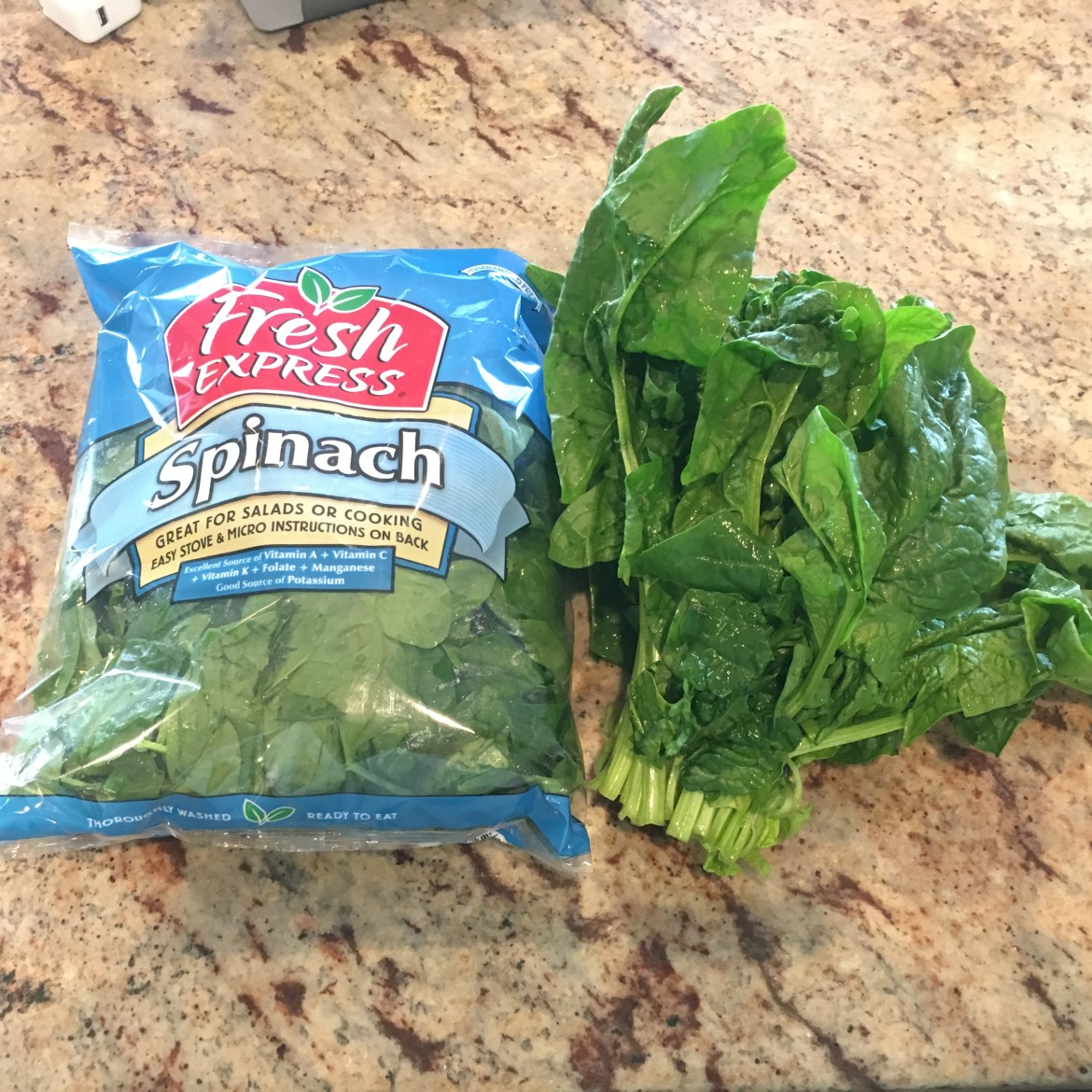 bagged spinach