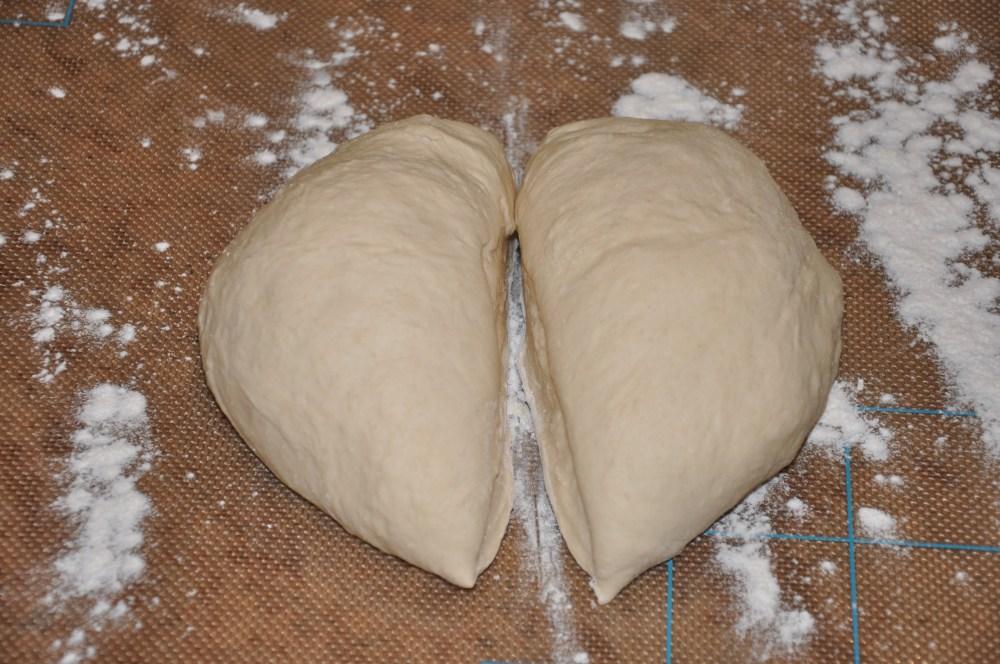 cut in pizza dough