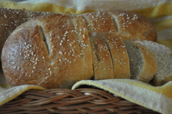 Italian bread in basket