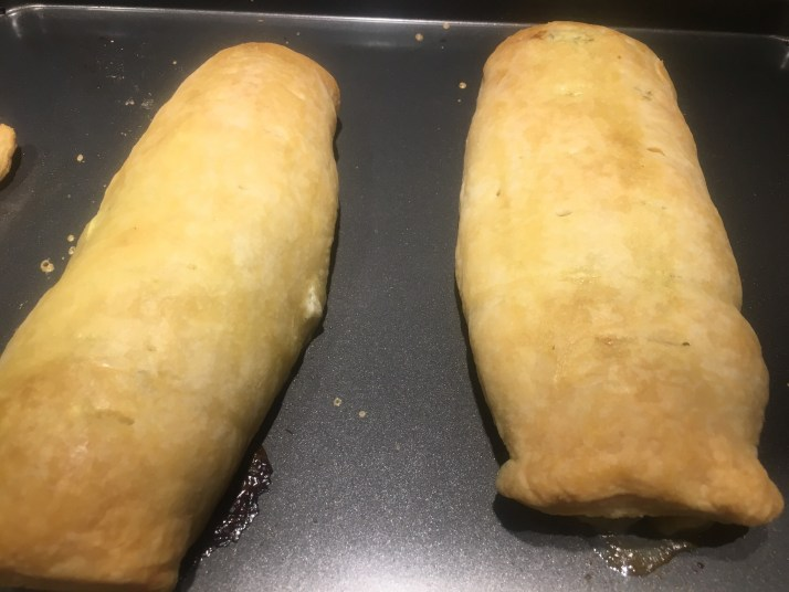 Baked Salmon in puff pastry