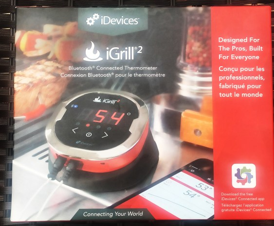 The iGrill2 is a handy little gadget. It comes with 2 Pro Meat Probes, the digital thermometer unit and 2 handy probe wraps (these help you keep the probes safely stored when not in use). The thermometer unit is designed to hold up to 4 separate probes ( additional probes are available for purchase if needed). This allows you to cook up to 4 pieces of meat at different temperatures. Just pair the device with your phone and it is ready for use.