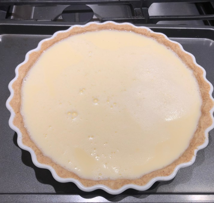 Tart prior to baking