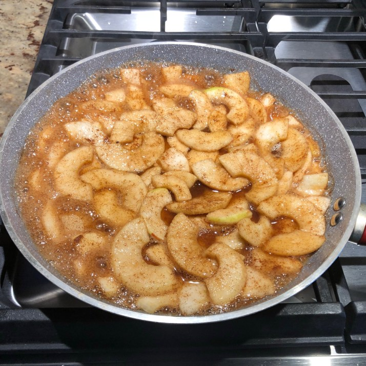 Apple toppingplace apple topping ingredients to a skillet. Cook on medium heat until tender about 10 minutes  set aside to cool