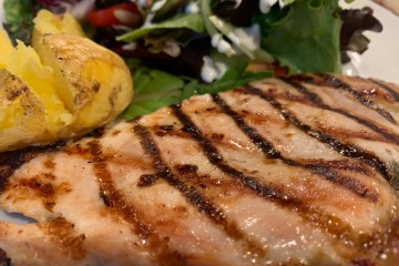 Grilled Chicken Breast with even grill marks