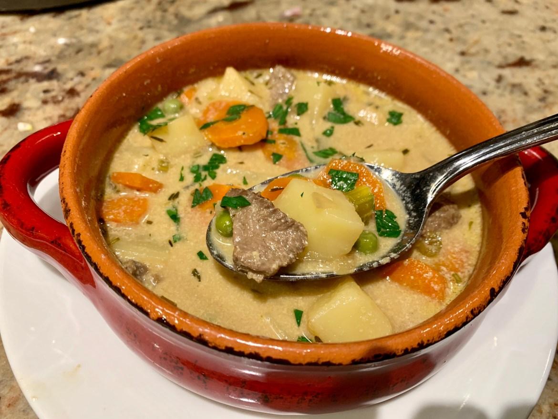 Steak Tip and Potato Soup