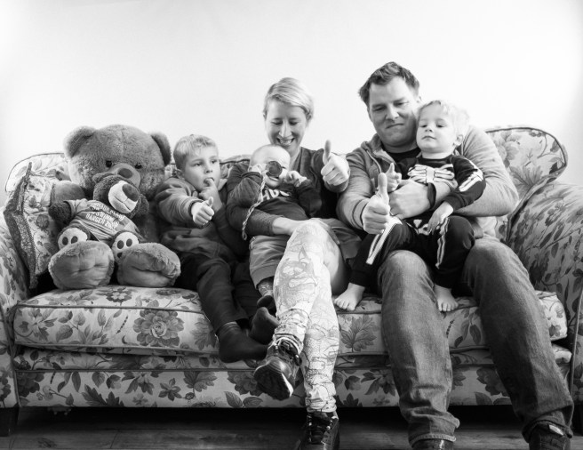 Familie foto maken