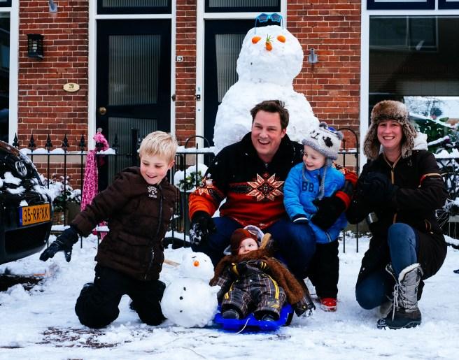 Grote sneeuwpop