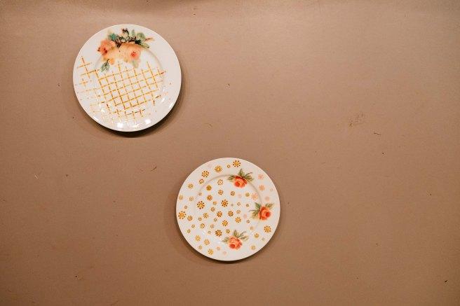 borden met porseleinstift