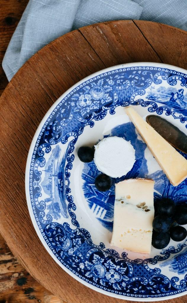 blauwe servies