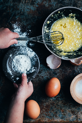 foto met hand food foto
