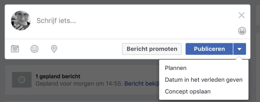 facebook inplannen