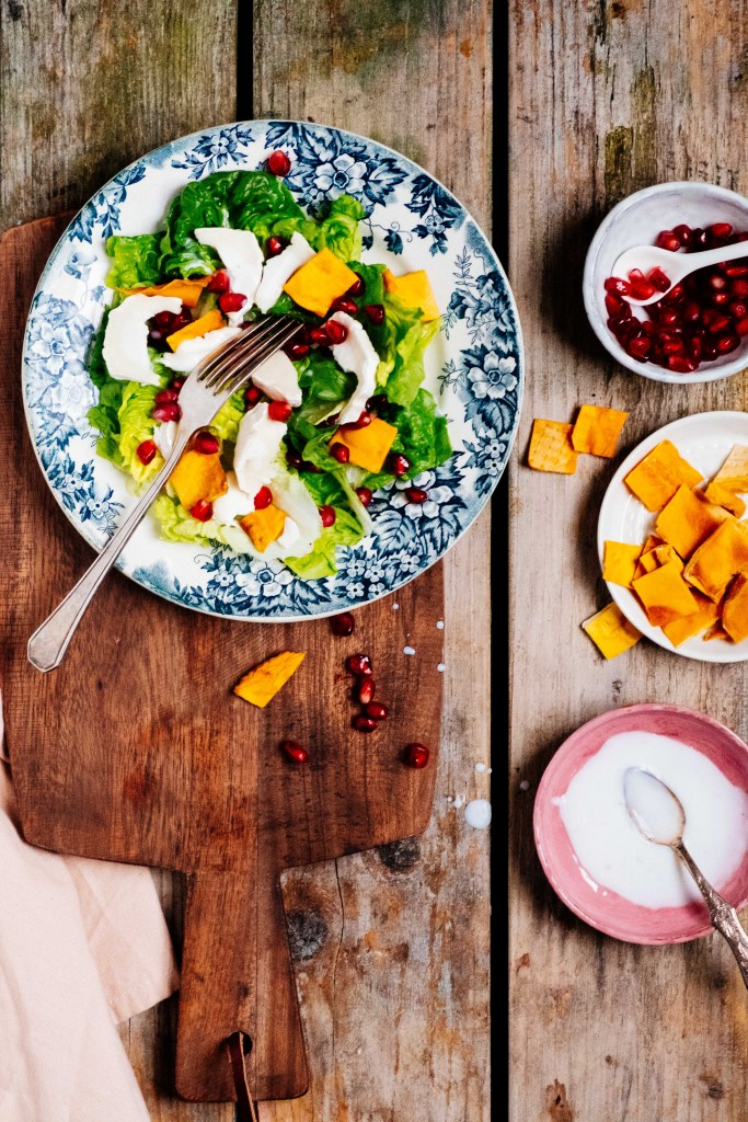 food styling van salade