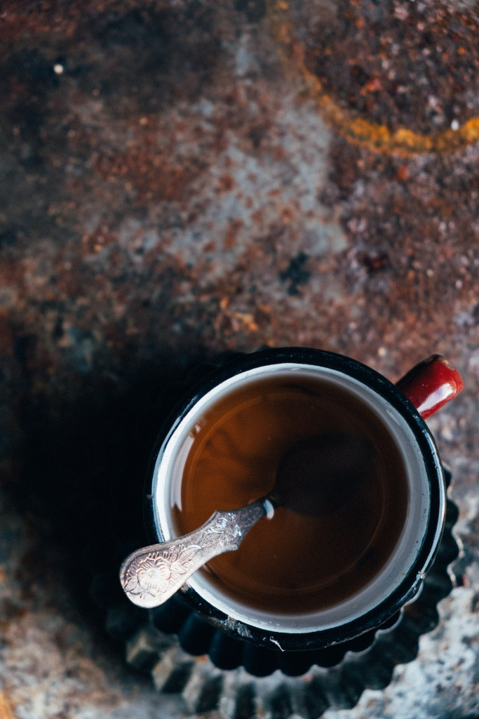 kopje thee op de foto zetten